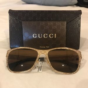 🕶NWT Authentic Gucci Gold Sunglasses🕶